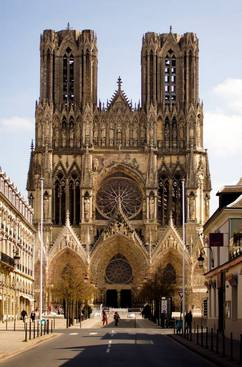 Façade of Reims Cathedral (France)